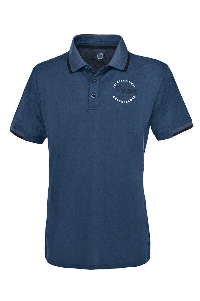 Pikeur Joris  Mens Poloshirt Smoked bluee X-Small  online shopping and fashion store