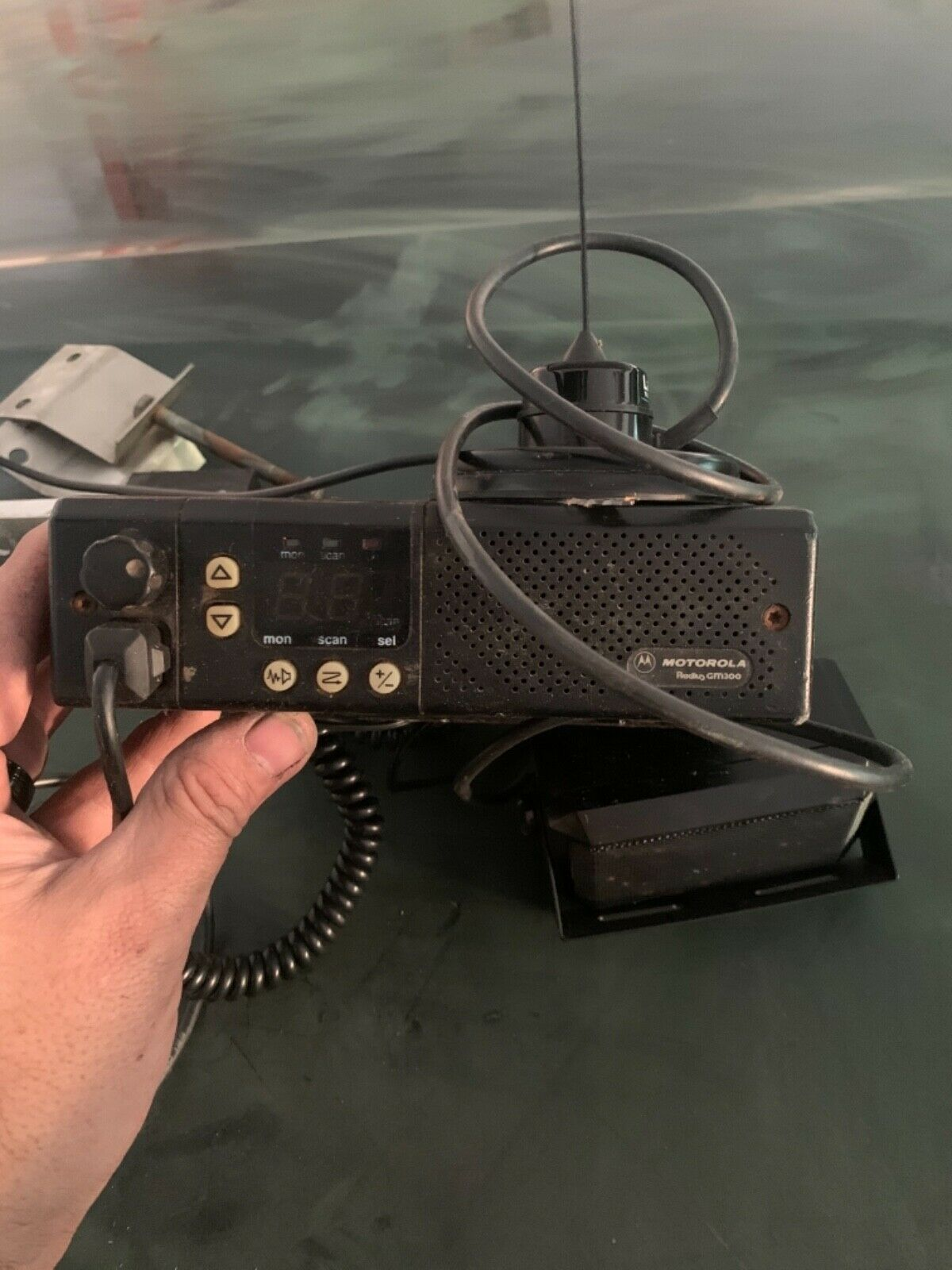 Motorola Radius GM 300 Mobile two way VHF radio. Buy it now for 100.00