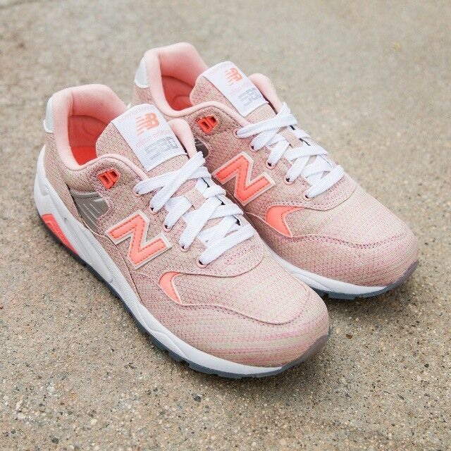 NEU BALANCE WOMEN CLASSICS WRT580IK FASHION Lifestyles Sneakers SORBET ORANGE