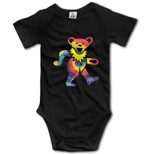 Grateful Dead Dancing Bear Romper Cute Gift Baby Clothes One Piece Jump Suit