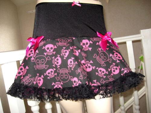 New Black pink Blue White Skulls Lace tutu Skirt Rock Gothic Party Festival Gift