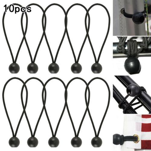10*Bungee Ball Cord Rope Loop Shock Cords Flags Poles Fix Ties Canopy Tarp #AF