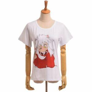 Anime-Inuyasha-Short-Sleeve-T-shirt-Inuyasha-Kikyou-Cosplay-Tee-White-Unisex