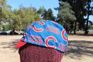 on sale 860de 2cd15 Details about CYCLING CAP MLB CHICAGO CUBS 100% COTTON HANDMADE