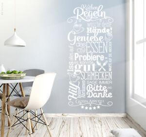 Das Bild Wird Geladen Wandtattoo Kuechenregeln Kueche Esszimmer Wandsticker  Wand Deko Guten