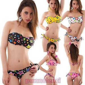 78fc0f456d81 Caricamento dell'immagine in corso Bikini-donna-costume-da-bagno-mare -fascia-stelle-