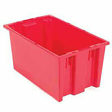 Stack And Nest Shipping Container No Lid 18x11x6 Red Lot Of 6