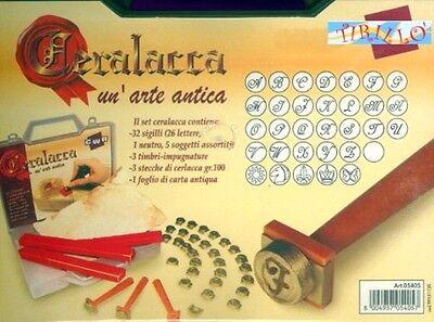 CARTOLERIA CERALACCA Kit valigetta Ceralacca con sigilli lettere iniziali