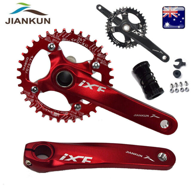 Black Pedal Spindle Cranksets 44 Teeth Sprocket for Chopper Bike Bicycle
