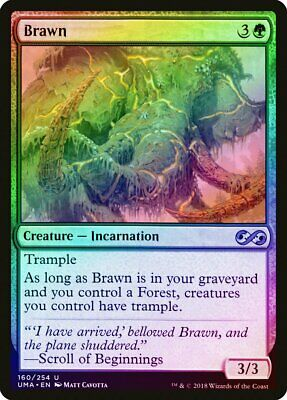 Brawn FOIL Ultimate Masters NM-M Green Uncommon MAGIC GATHERING CARD ABUGames