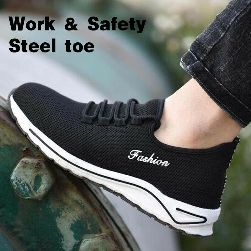 Mens Womens Mesh Safety Sneakers Work shoes Steel Toe Cap Composite Hiking Boots