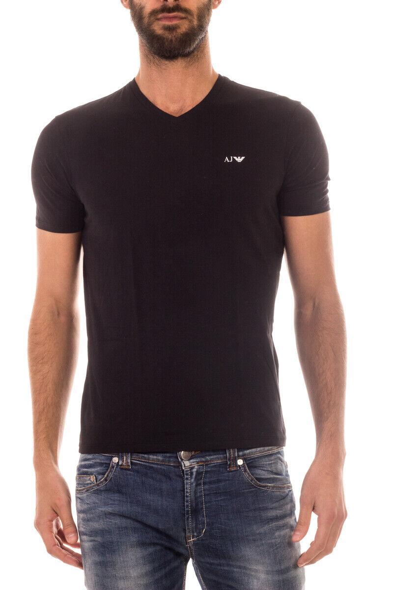 T hemd Maglietta Armani Jeans AJ schweißhemd Cotone herren schwarz 8N6D026JPFZ 1200