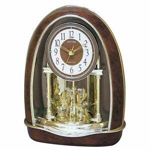 Rhythm-Classic-Nightingale-Musical-Motion-Clock-w-Swarovski-Crystals-J444379