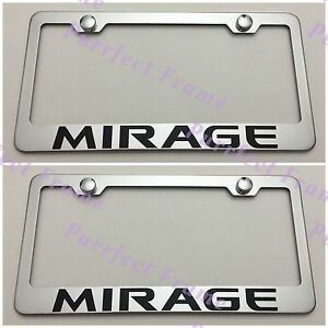 Corolla Stainless Steel License Plate Frame Rust Free W// Caps