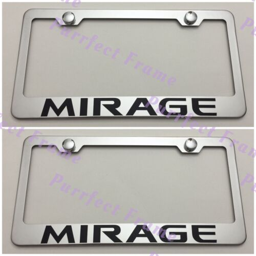 2X EXPEDITION Ford Stainless Steel License Plate Frame Rust Free W// Caps