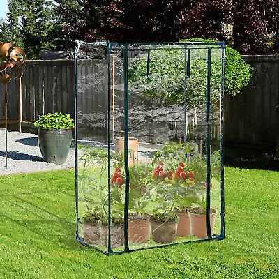Outsunny Mini Greenhouse Garden Plant Tomato Grow Bag w/ PVC Cover 100x50x150cm