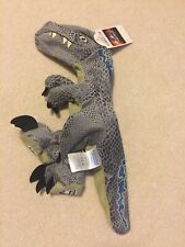 Build A Bear Unstuffed Velociraptor BLUE Plush Jurassic Park World Dinosaur
