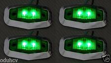 4x 12V LED Lateral Verde Bisel cromado luces de marcaje camión camión bus
