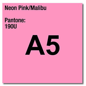 80-GSM-A5-Coloraction-STAMPANTE-amp-Fotocopiatrice-Carta-x-500-FOGLI-Neon-Rosa-Malibu