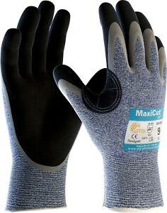 12 x MaxiCut Oil 34-504 Palm Coated KW Heavy Duty High Cut Protection Gloves