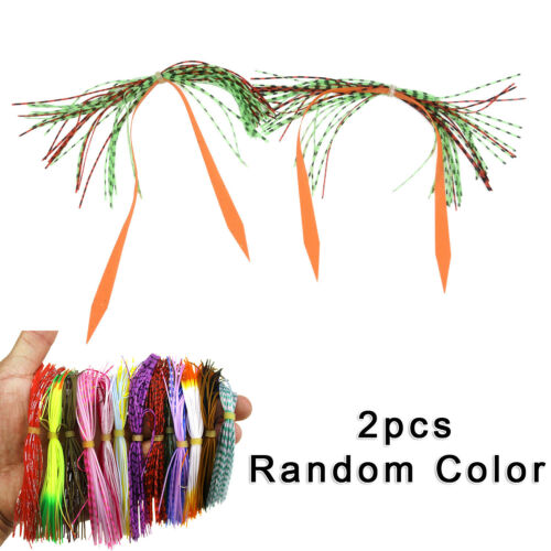 60* Colorful Silica Gel Bands Strap Moustache For Fishing Artificial Lure New