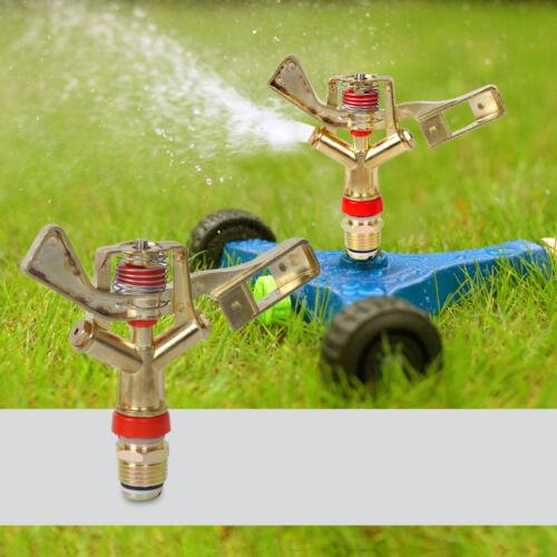 """1//2/""""Rotierend Irrigation Spraydüse Sprinklerkopf Sprinkler Wasserwedel Legierung"""