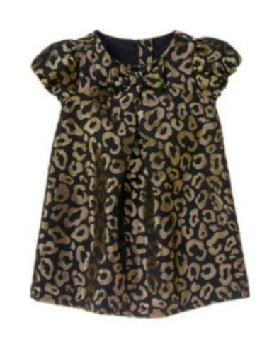 NWT Gymboree Girls City Kitty Black Gold Sparkle Dress Size 18-14 2T 3T 4T 5T