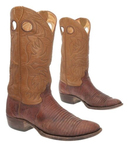 JUSTIN Cowboy Boots 9 D Mens EXOTIC Lizard Leather