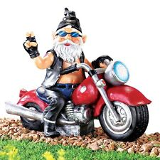 Motion Activated Bad Boy Biker Gnome Figurine