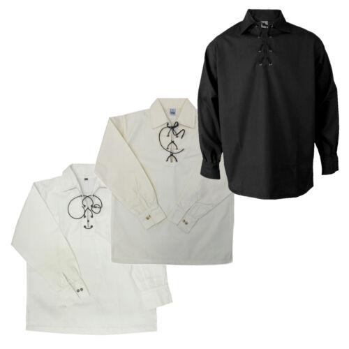 Tartanista Herren Jakobiter-//Ghillie-Hemd Scottish-Highland-Stil