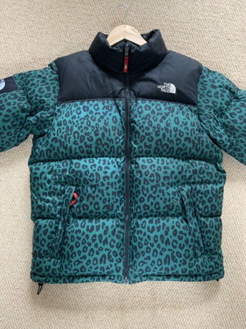 4fc07956e Supreme x North Face Green Leopard Large FW11 OG Nuptse Down Jacket The TNF  700
