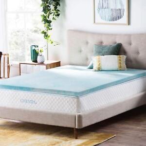 Memory Foam Mattress Topper Gel Swirl Bed Pad Cover Pillow Top 2