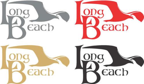 *LONG BEACH DECAL City Of Long Beach Window Decal Vinyl Long Beach Sticker