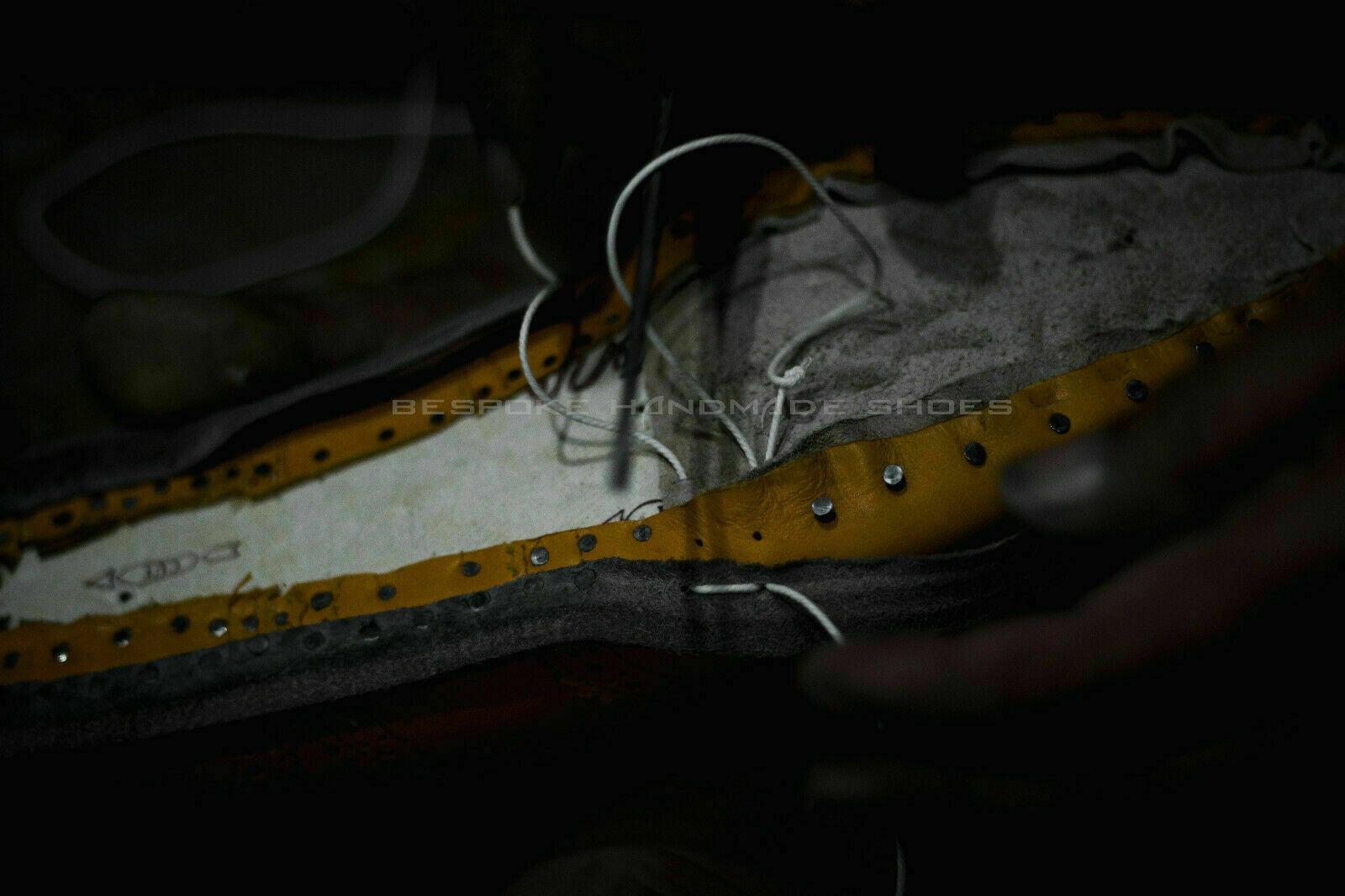 Hecho a mano mano mano para Hombres Azul Genuino Mocasines De Gamuza & Cordones Mocasín borlas zapatos 818f84
