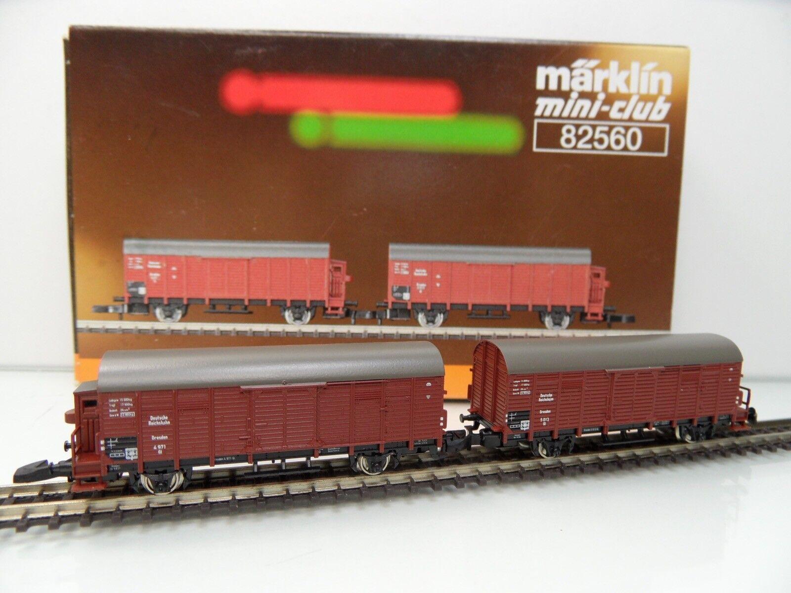 Märklin Miniclub 82560 - Spur Z - 2tlg. Güterwagen-Set m. BH - TOP OVP -  1427
