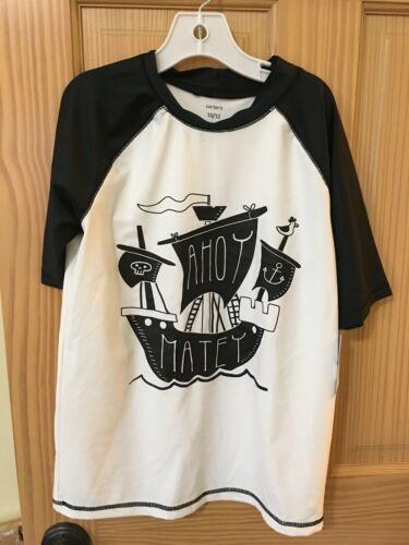 Many Sizes New Carter/'s Pirates Rash Guard Swim trunk Shorts 2 pc Set UPF 50