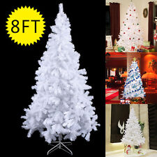8ft artificial pvc christmas tree wstand holiday season indoor outdoor white - 8 Ft Christmas Tree