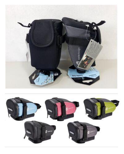 Cycle Design Waterproof Zipper Medium Wedge-Shape Bicycle Saddle Bag Multi-Color