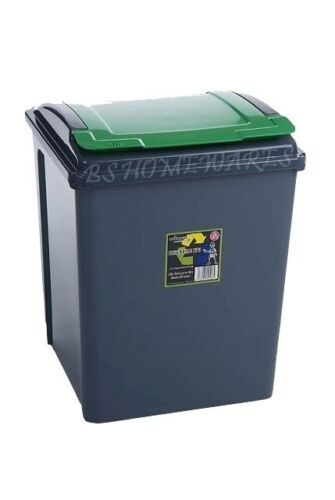 NEW 50L 50 LITER PLASTIC RECYCLE KITCHEN BIN GARDEN WASTE RUBBISH ...