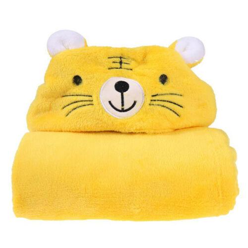 Newborn Baby Bath Towel With Animal Cartoon Blanket Hooded Bathrobe Popular F