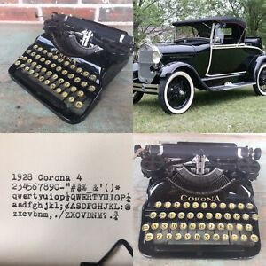1928 Corona 4 Typewriter - Video Review - new feet/feed rollers/drawstring