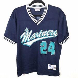 huge selection of 5572e 38741 Details about Vintage 90s Seattle Mariners 24 Ken Griffey Jr Jersey Youth  Sz Medium True Fan