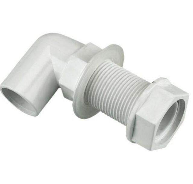 FLOPLAST overflow bent tank conn 21.5mm white - Bag of 5