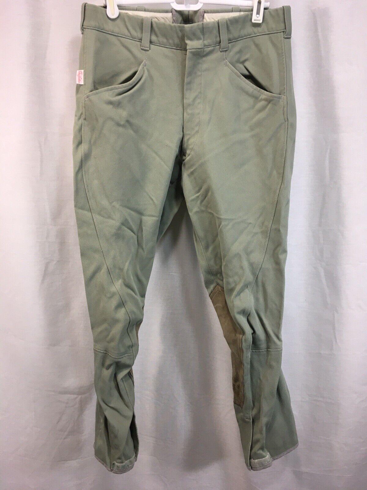 Vintage el Tailorojo Sportsman inglés hábitos de Equitación Pantalones verde EE. UU.