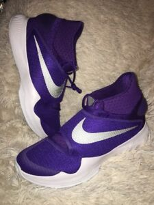 new arrival f22fa 787f9 Image is loading Nike-Zoom-HYPERREV-Basketball-Shoes-Purple-Silver-835439-