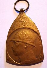 WWI/1914-1918/ KING ALBERTI BY DE BREMAECKER Bronze Medal / 49 x 31 mm / N.127