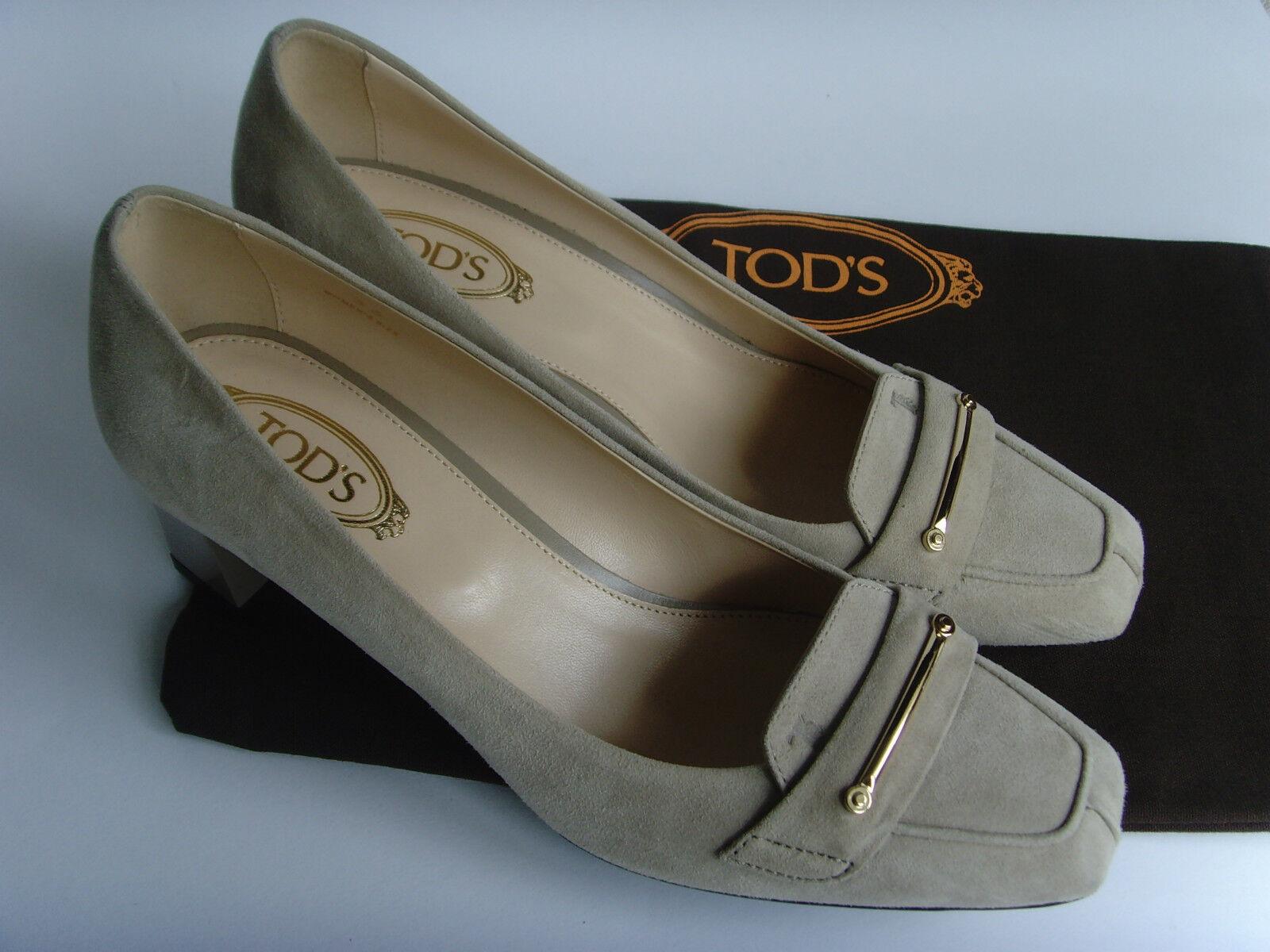 Leder Pumps - beige - Luxus Marke - Original TOD'S - Italy - Gr.36 - NEU!