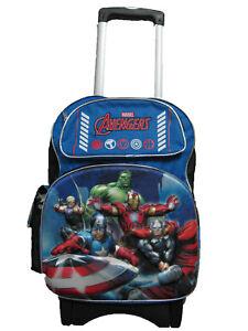A05765 3-D Avengers Large Custom Rolling Backpack 16