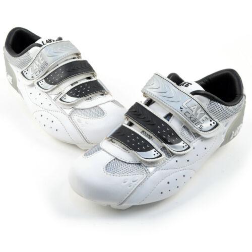 Lake CX 225 White//Silver Road Cycling Shoes Size 42