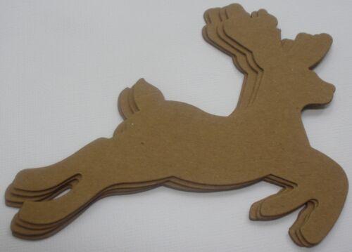 Bare Christmas Embellishments CUTE REINDEER Chipboard Die Cuts 4